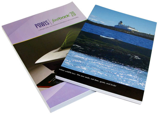 Fastback® Perfectback Softcover Sample Books Top View