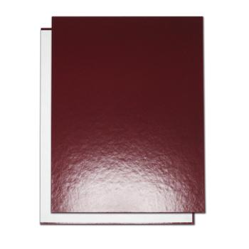 "8.5"" x 11"" Maroon Composition Easyback Hardcovers"