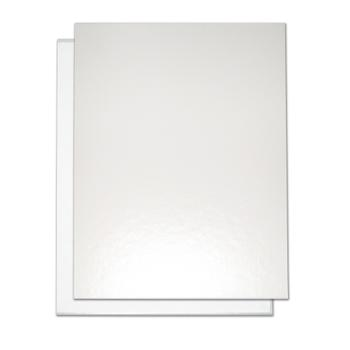 "8.5"" x 11"" White Composition Easyback Hardcovers"