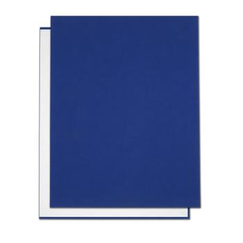 "8.5"" x 11"" Bright Blue Suede Easyback Hardcovers"