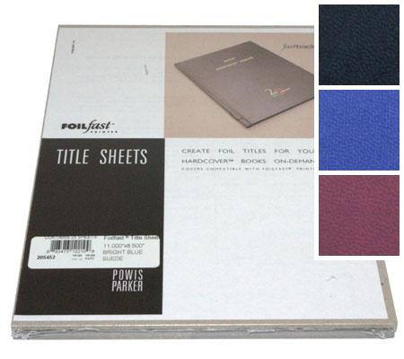 FoilFast® Suede Hardcover Title Sheets
