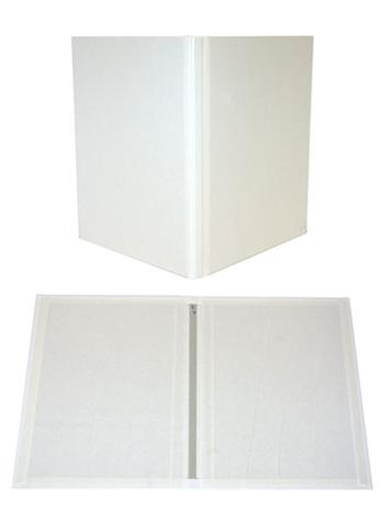"8.5"" x 11"" White Composition Fastback® Hardcovers"