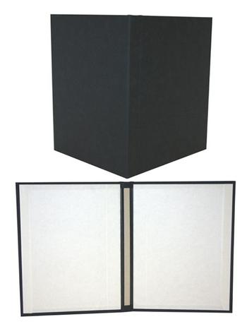 "8.5"" x 11"" Black Suede Fastback® Hardcovers"
