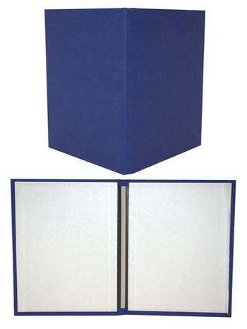 "8.5"" x 11"" Bright Blue Fastback® Suede Hardcovers"
