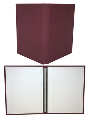 "8.5"" x 11"" Maroon Suede Fastback® Hardcovers"