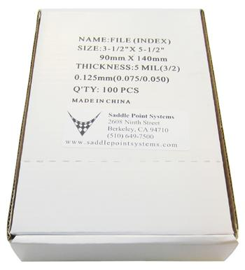 "Index (File) Gloss Lamination Pouches, 3-1/2"" x 5-1/2"""