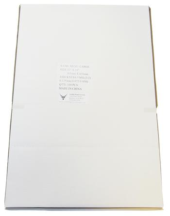 "Large Menu Gloss Lamination Pouches, 12"" x 18"""