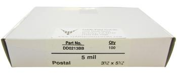 "Postal Gloss Lamination Pouches, 3-9/16"" x 5-5/16"""