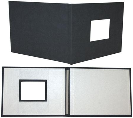 Black Suede Fastback® Photobooks with Window, 11in x 8.5in