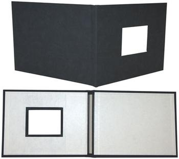 "8.5"" x 11"" Black Suede Fastback® Photobooks (with Window)"