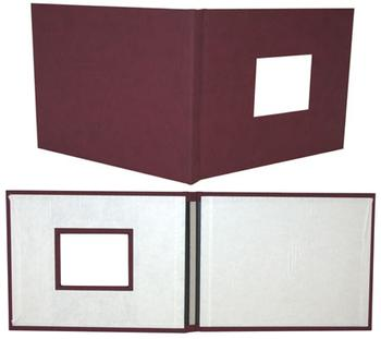 "8.5"" x 11"" Maroon Suede Fastback® Photobooks (with Window)"