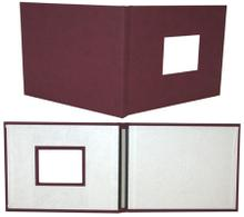 Maroon Suede Fastback® Photobooks with Window, 11in x 8.5in