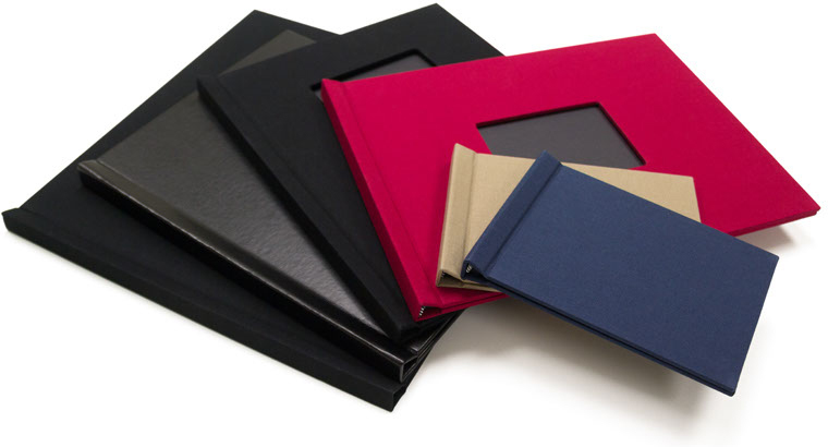 "8.5"" x 11"" Leather Pinchbook Photobooks (Portrait, Window)"