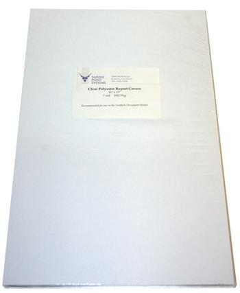 "11"" x 17"" Clear Polyester 10mil Heat Resistant Binding Covers"