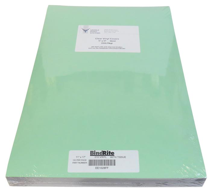 11 X 17 Clear Vinyl 10mil Acetate Binding Covers