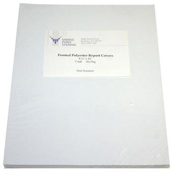 "8.5"" x 11"" Frosted Polyester Binding Covers"