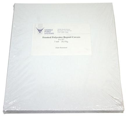 Frosted Polyester Matte Binding Covers 9x11in
