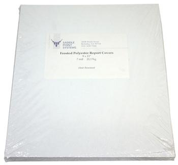 "9"" x 11"" Frosted Polyester Binding Covers"