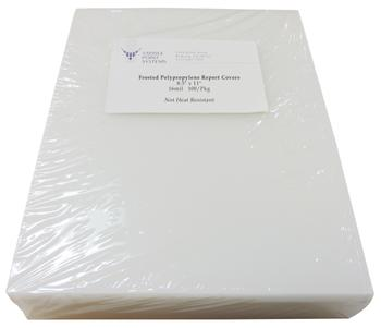 "8.5"" x 11"" Frosted Polypropylene Binding Covers"