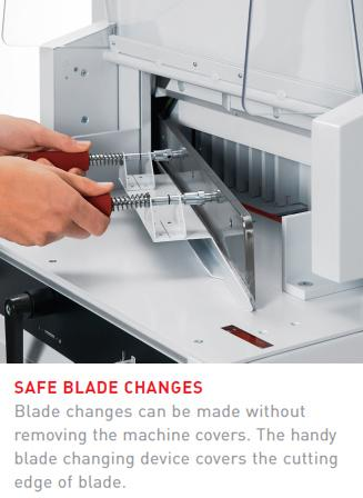 MBM Triumph 4850 Guillotine Cutter Features