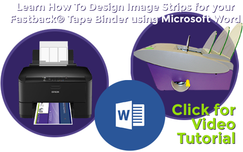 How To Design Image Strips for Spine Printing on Fastback 20 Documents using Microsoft Word