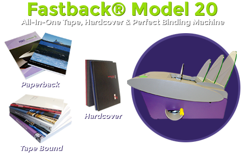 Fastback Model 20 Tape, Softcover and Hardcover Binding Machine