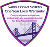 Saddle Point Systems 1 Year Local Warranty